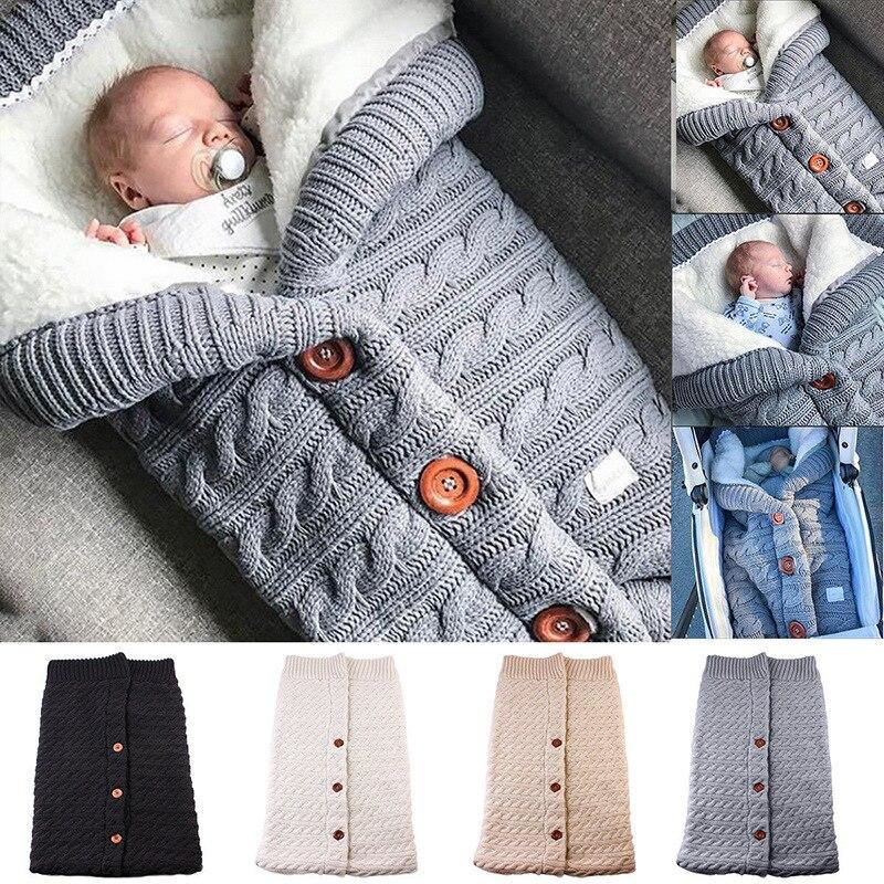 Bebé manta bebé saco de dormir saco de algodón de punto sobre recién nacido inflable tumbona de accesorios para cochecito Sleepsacks