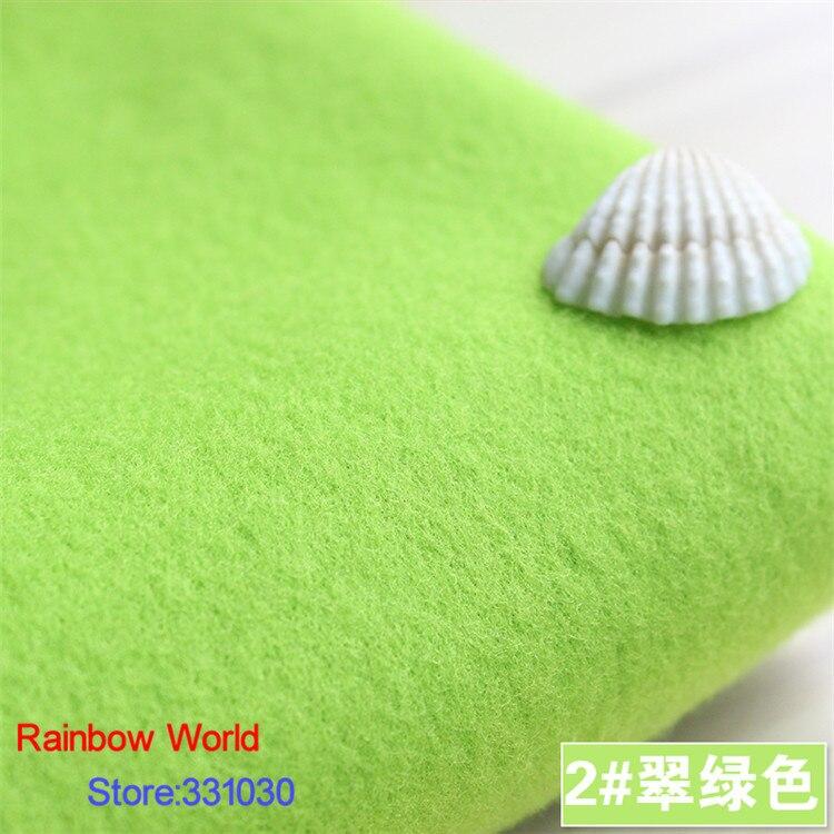 2 # verde claro 1 metro un lado cepillado imitación lana tela para prendas de vestir para DIY colthes sobretodo falda traje vestido material