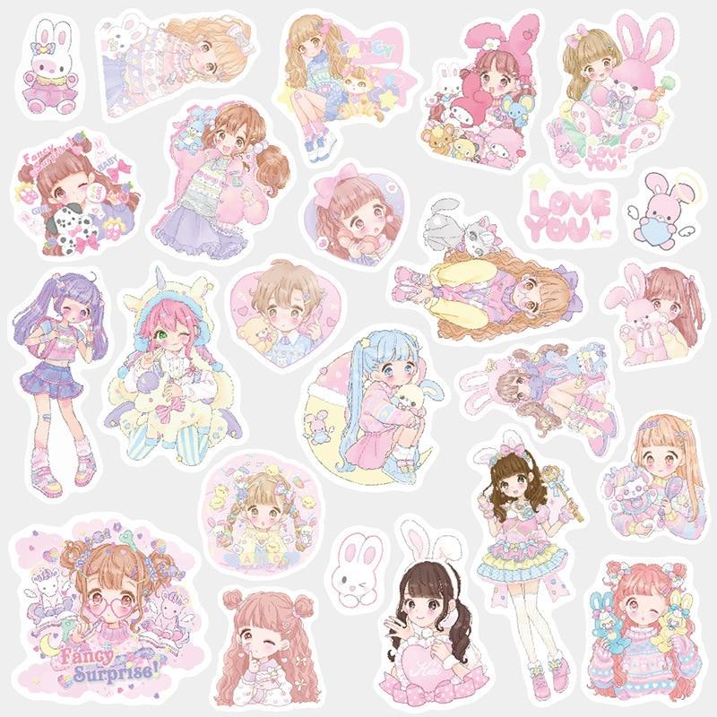 Pet Girl Bullet Journal dekoracyjne naklejki Washi dekoracyjne przyklejane etykiety naklejki do pamiętnika, papeterii lub albumu