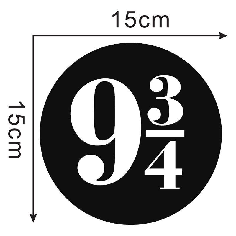 Zuczug 9 3/4 Wand Aufkleber Tür Aufkleber Plattform 9 Und 3 Viertel Aufkleber Wand Kunst 15X15CM