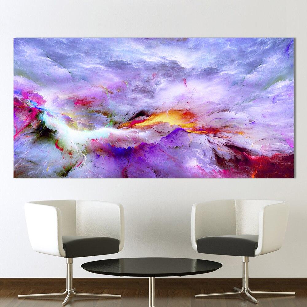 QKART obrazy na ścianę do salonu Home Decor streszczenie nierealne chmury płótno drukowany obraz olejny bez ramki
