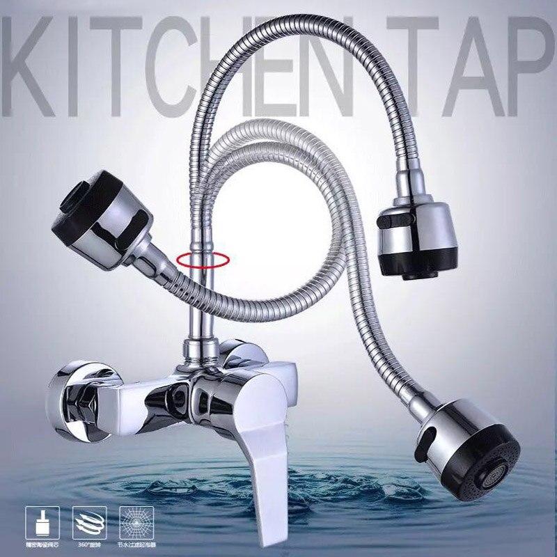 Becola التسوق مجانا 360 دوران صنبور كروم الطاقة المائية دوارة المطبخ بالوعة خلاط صنبور واحدة مقبض BR-9101-3