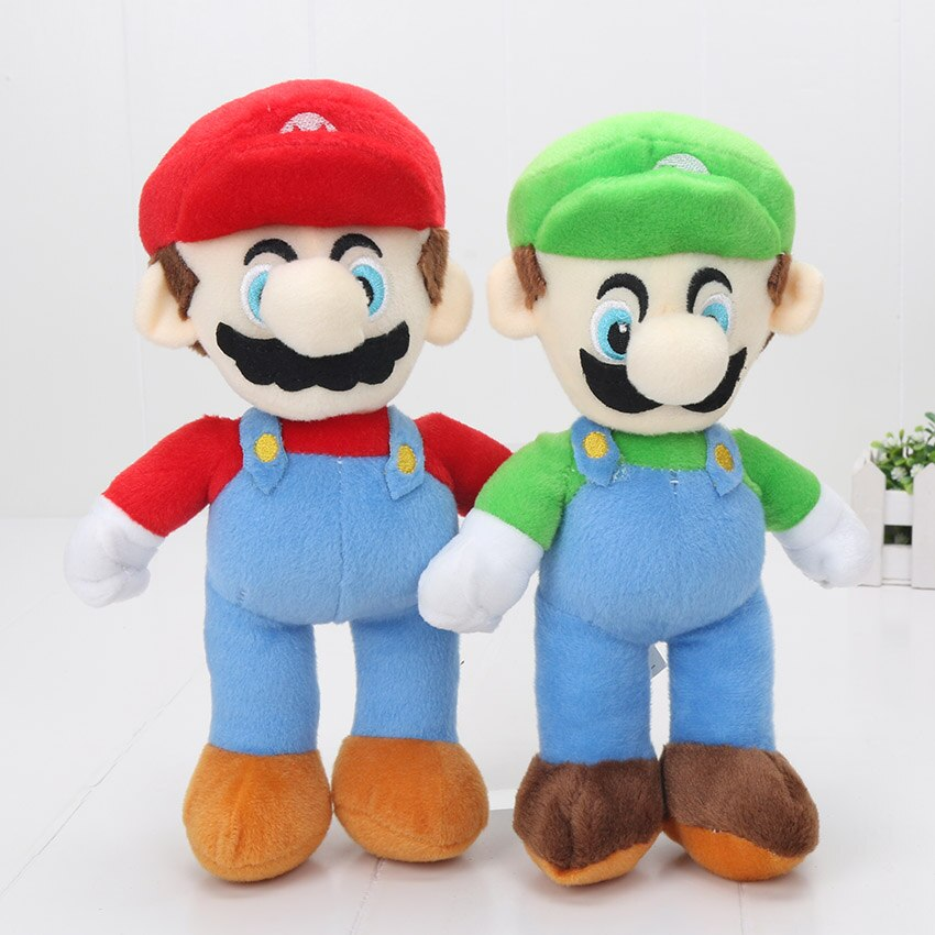 2 pçs/set 25 cinco centímetros Super Mario Bros Fique MARIO LUIGI brinquedos De Pelúcia Boneca de Brinquedo de Pelúcia