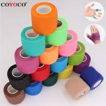 COYOCO-vendaje elástico autoadhesivo para deporte, cinta Elastoplast colorida de 4,5 m para almohadillas de soporte de rodilla, dedo, tobillo, palma, hombro