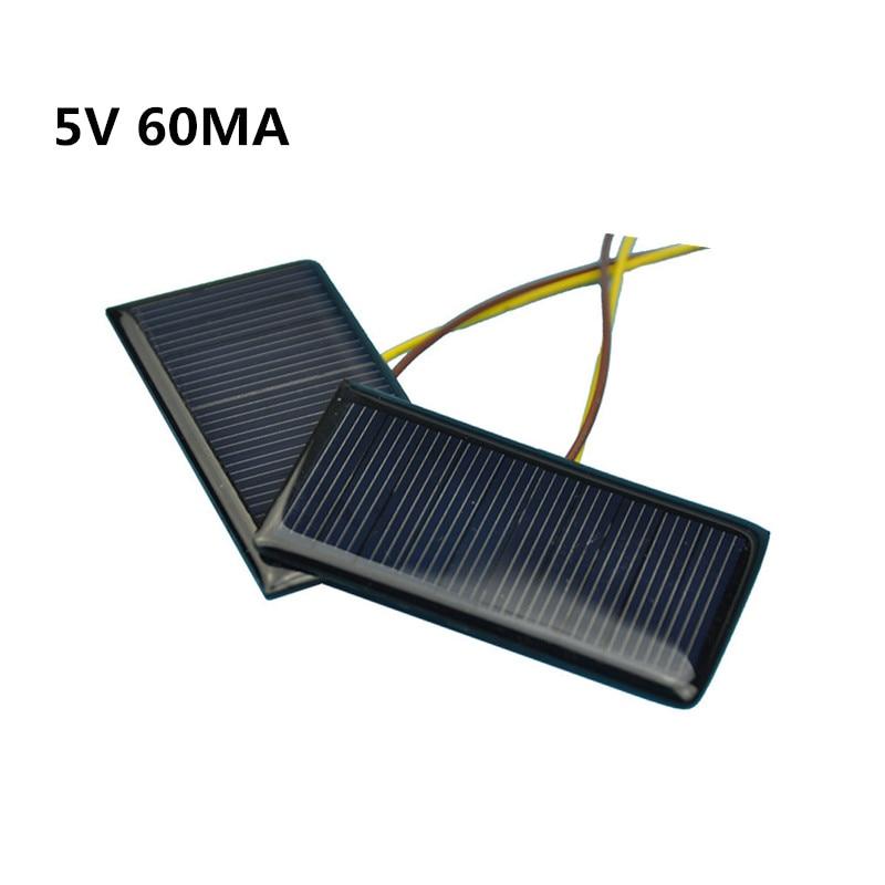 Мини 1 шт. солнечные панели 5 в 60ма 0,3 Вт зарядка солнечной батареи DIY