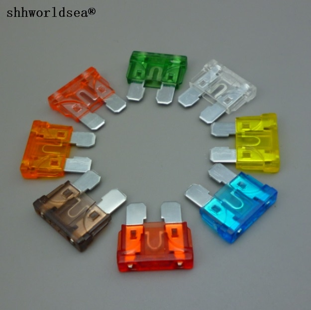 shhworldsea 120PCS Medium Car Blade Fuse auto fuse Automotive Fuses Assortment 1A 2A 3A 5A 7.5A 10A