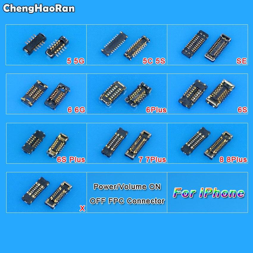 ChengHaoRan Разъем питания с разъемом FPC для замены материнской платы для iPhone 5 5C 5S SE 6 6S 7 8 Plus X