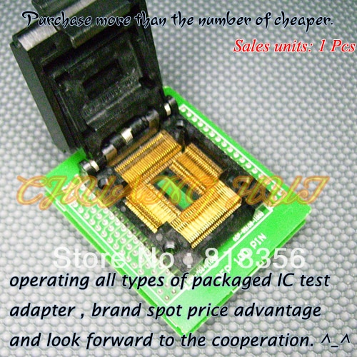 QFP100PIN Programmer Adapter TQFP100 QFP100-DIP48 QTP-100065-003 Adapter/IC SOCKET/IC Test Socket