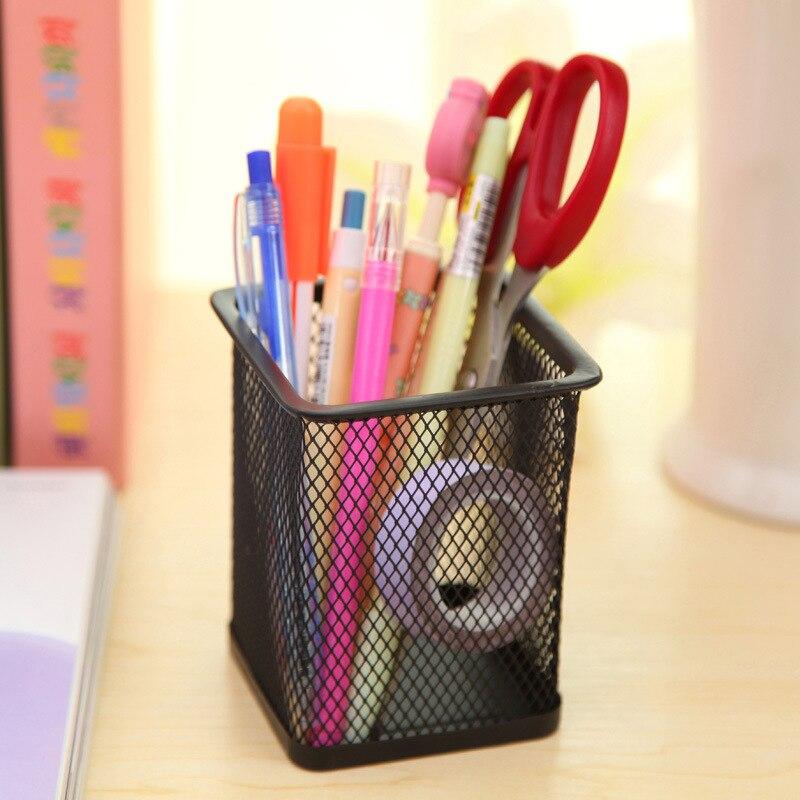 Alta qualidade caneta titular organizador de escritório quadrado cosméticos lápis caneta suportes recipiente artigos de papelaria material de escritório