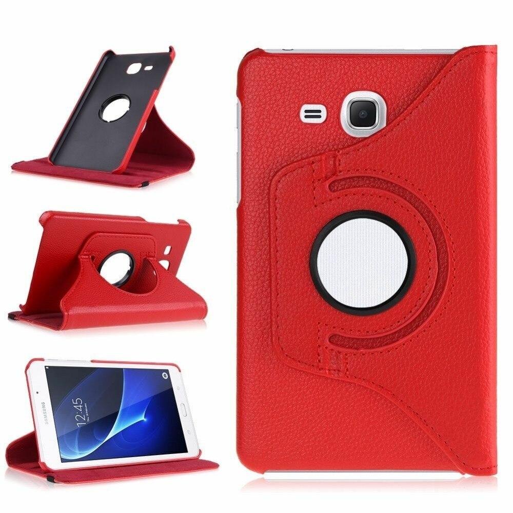 2016 Tab A6 7,0 чехол для Samsung Galaxy Tab A 7,0 T280 T285 SM-T285 360 Вращающийся флип-чехол из искусственной кожи с подставкой умный чехол для планшета