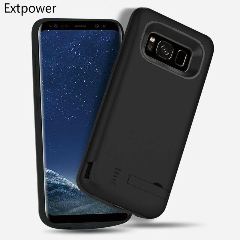 Batería Extpower funda para Samsung Galaxy S10 S10 Plus S10E 6500 Mah cargador de batería externo Paquete de batería portátil con soporte