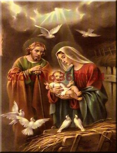 "5d religión ""Jesús"" diamante pintura en mosaico con diamantes bordado Cruz puntada 3d Diy plena plaza kit para bordado de cuadro CON ABALORIOS"