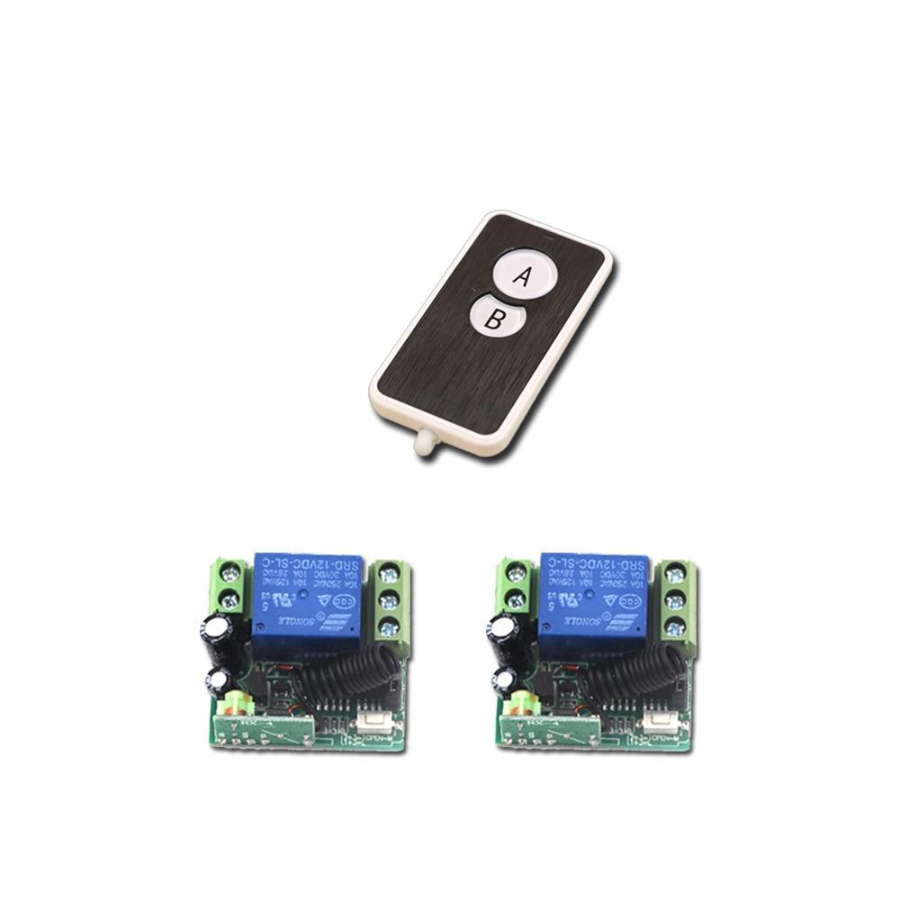 Hot Sales DC 12V Mini Wireless Remote Control Switch 1Channal Intelligent Family System 2pcs Receiver+1pcs Transmitter
