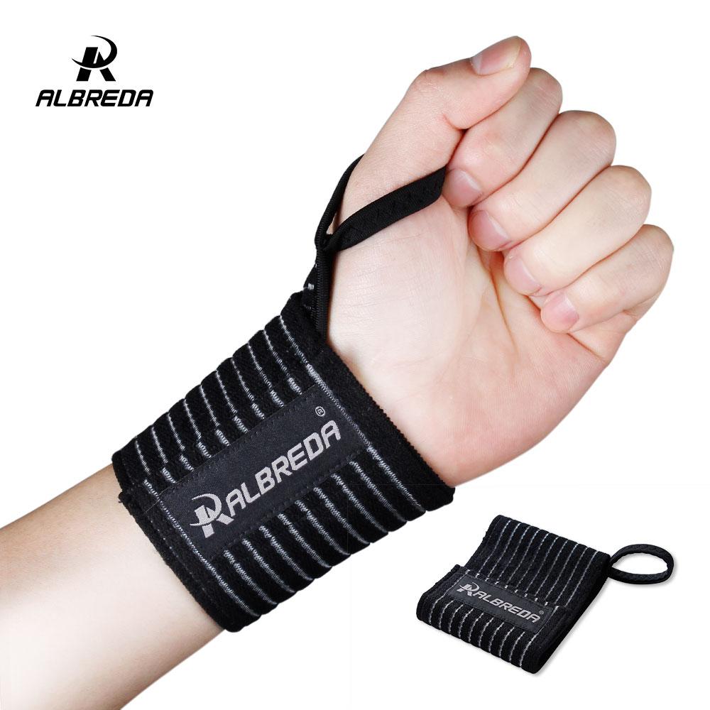 ALBREDA, 1 шт., эластичная спортивная повязка, браслет для рук, для тренажерного зала, для поддержки запястья, для тенниса, хлопок, Weat band, для фитнеса, пауэрлифтинга