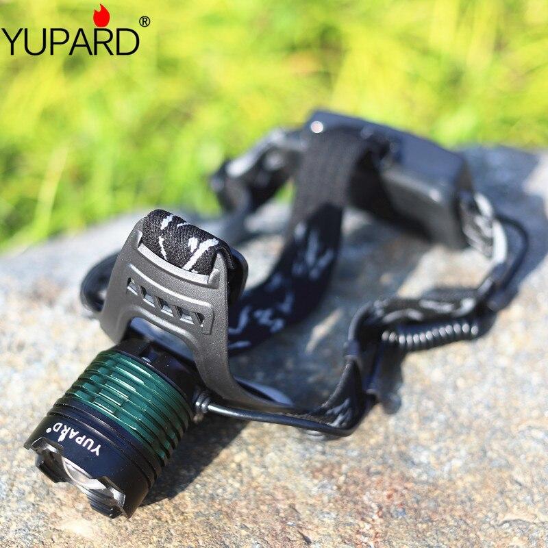 YUPARD XM-L2 T6 LED brillante LED Zoom linterna antorcha luz faro zoomable recargable 18650 de pesca al aire libre