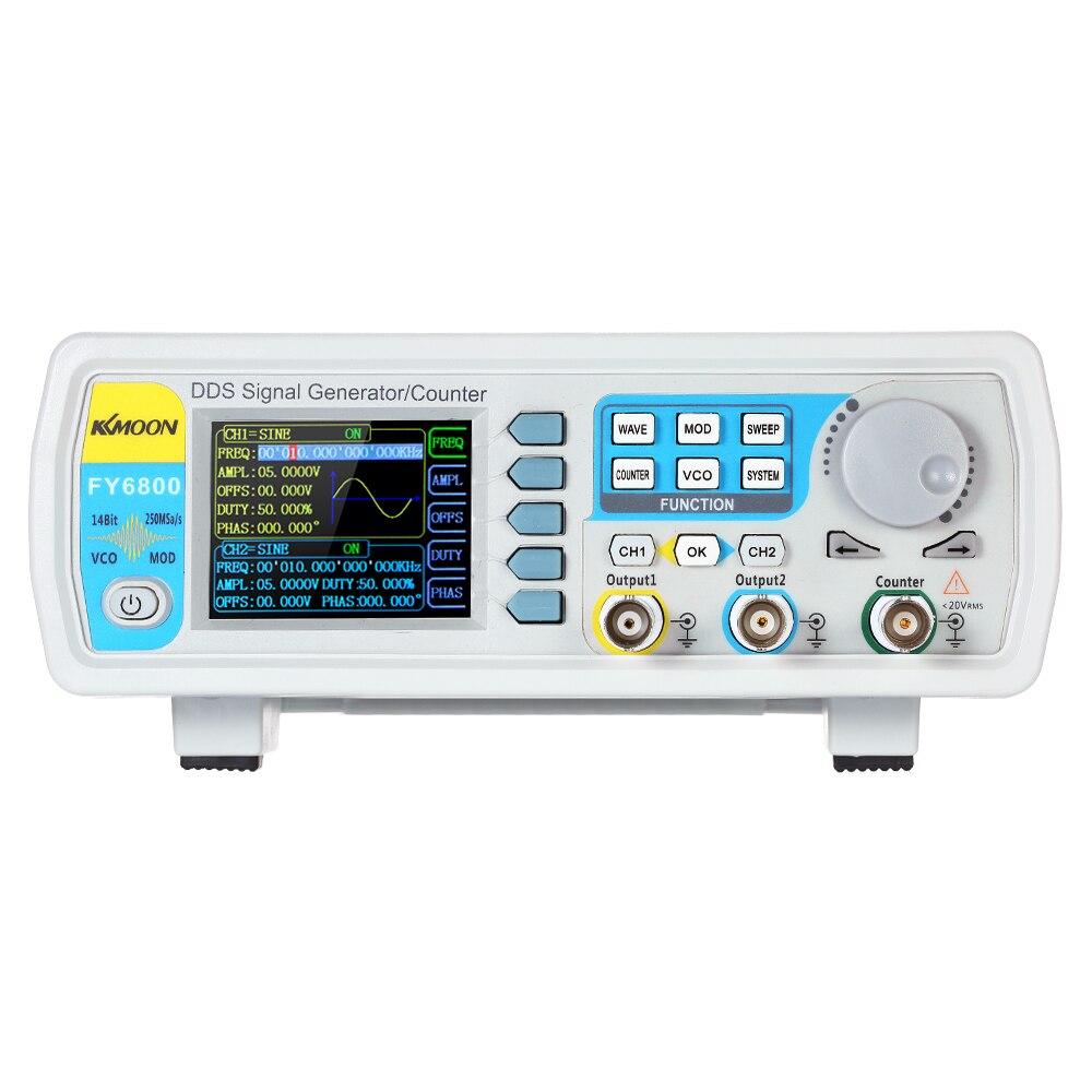 FY6800-40M 40 MHz générateur de Signal contrôle numérique double canal DDS fonction générateur de Signal compteur de fréquence arbitraire