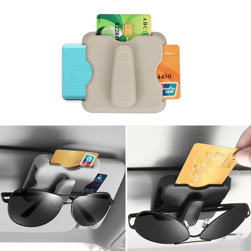 Auto Sonnenblende Organizer Sonnenblende Karte Halter Brille Clip Für Ford Focus 2 1 Fiesta Mondeo 4 3 Transit ranger Mustang KA S-max