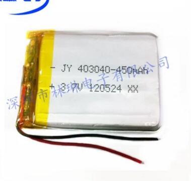043040P 403040P 450mah con placa protectora batería de polímero de litio de 3,7 V batería de zapato luminosa batería de iones de litio recargable