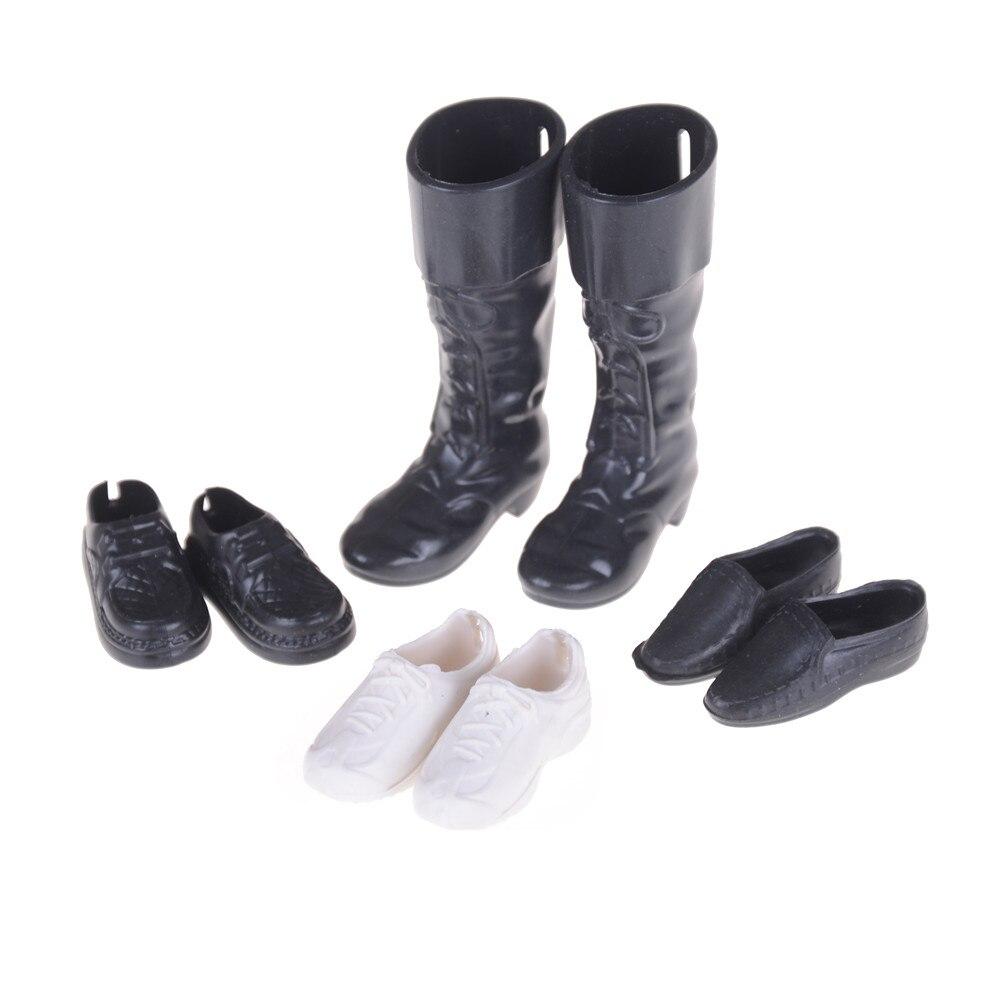 4 pares acessórios de roupas vestir-se amigo bonecas cusp sapatos tênis joelho botas altas para boneca namorado ken