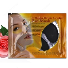 Großhandel Schwarz Collagen Augenmaske Kollagen und Hyaluronsäure Masken Schwarz Kollagen-kristallaugen Maske Augenlid