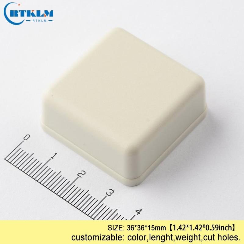 Carcasa de plástico DIY para proyecto de plástico pequeño, carcasa para electrónica, caja de empalme abs, caja de escritorio PCB 36x36x15mm