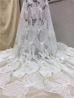 white african lace fabric 2019 high quality lace fabric french sequins net cord tulle fabrics nigerian laces for wedding dressx6