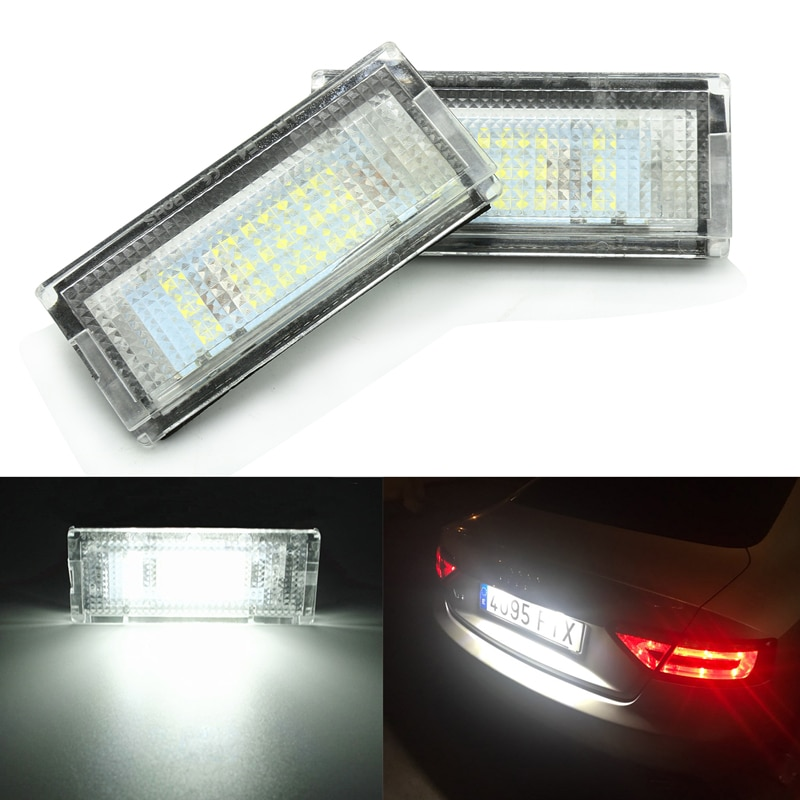 liandlee for volkswagen vw polo polo vivo led car license plate lights number frame light high quality led lamp Car LED Number License Plate Light Lamps for BMW E46 4D(98-05)  Car License Plate Lights Exterior Accessories
