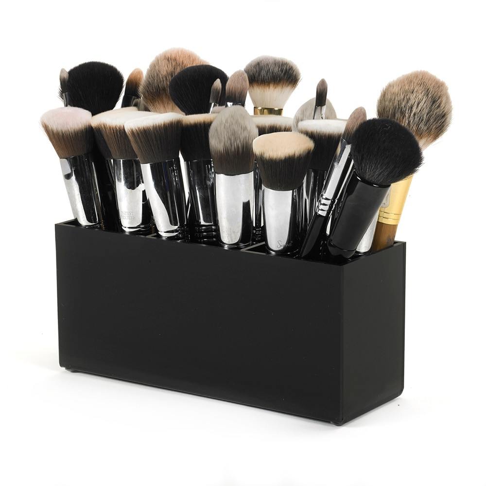 Caja de almacenaje para utensilios de maquillaje de acrílico Aila nueva pequeña brocha y delineador de maquillaje