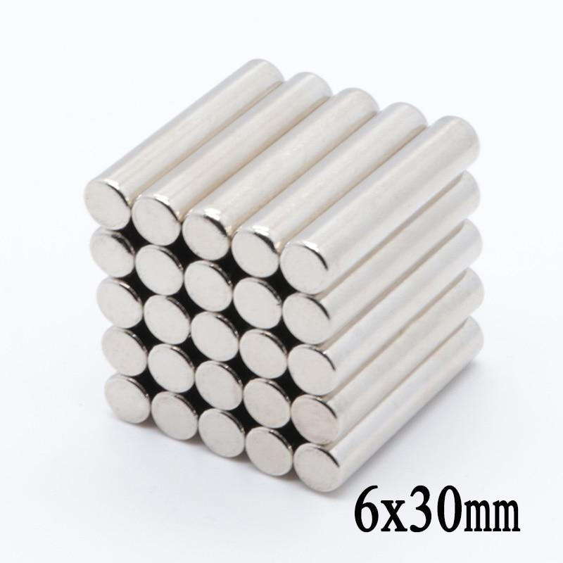 20 штук 6x30 мм N35 мини-круглый супер сильный магнит редкоземельный магнит неодимовый магнит кольцо 6x30 мм неодимовый магнит NdFeB 6*30 мм