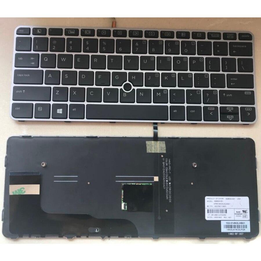 لوحة مفاتيح بديلة أصلية للكمبيوتر المحمول من HP ، Elitebook 725 G3 820 G3 828 G4 ، 820