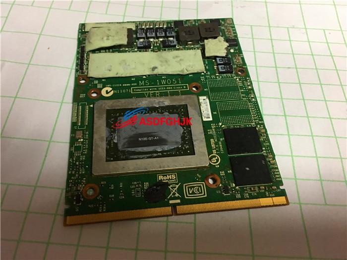 الأصلي ل MSI GT780DX GT680DX MS-16F2 MS-1761 الرسومات مجلس MS-1W051 GTX570M اختبارها بالكامل