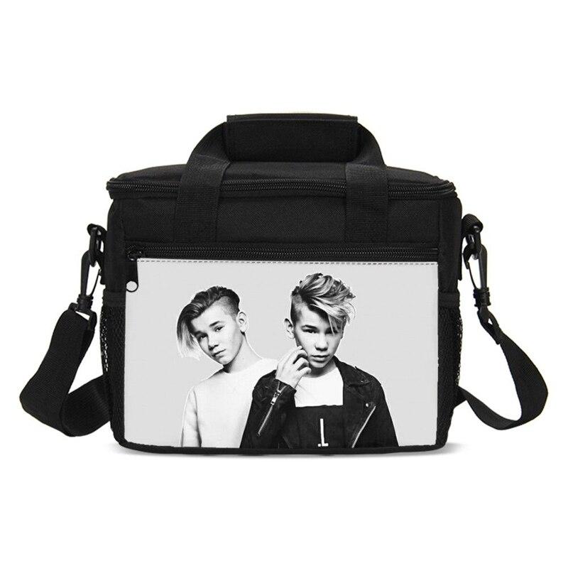 Moda Hip Hop estilo Marcus y Martinus pequeñas bolsas de almuerzo con aislamiento térmico caja de almuerzo fría caja de almuerzo caliente chicas enfriador bolsa