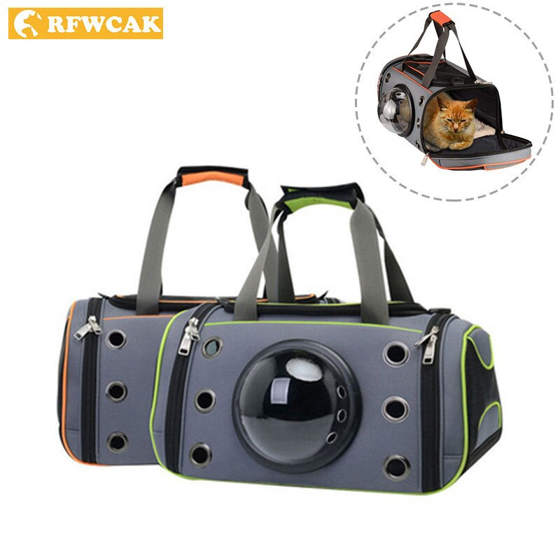 Bolsa transportadora de perro RFWCAK, bolso de los gatos portátil, bolsa de viaje plegable Oxford, bolsa de viaje al aire libre para cachorro Chihuahua, accesorios pequeños para mascotas