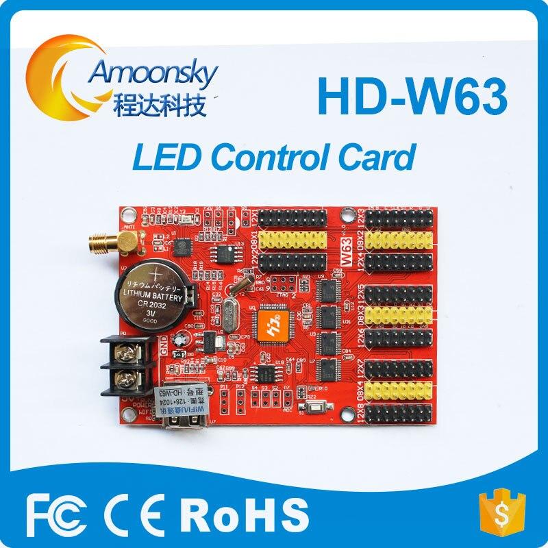 Signo de led al aire libre p10 led panel de visualización de pantalla led rgb Controlador led tarjeta w63