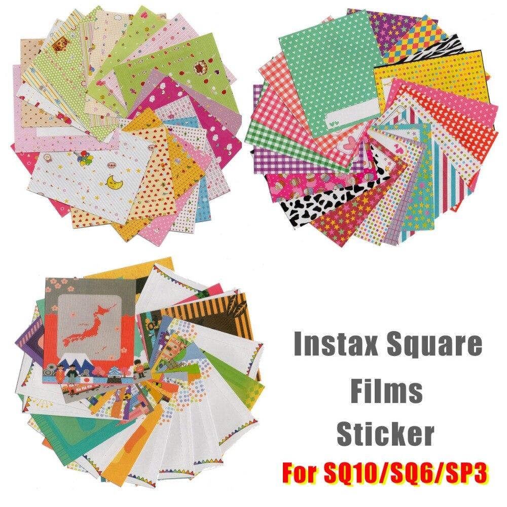 60x filmes bonito dot mensagem memo happyeveryday carton photo adesivos para instax quadrado sq20 sq10 sq6 sp3 filmes diy diário