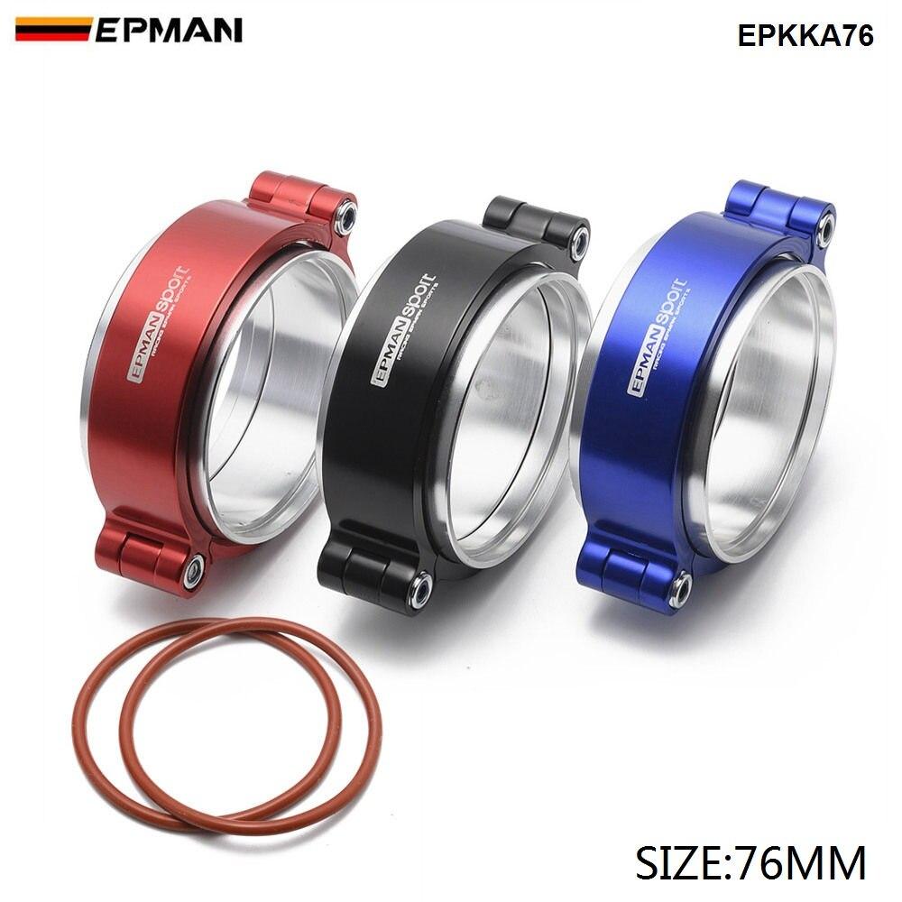 "Epman HD Auspuff V-band Clamp w Flansch System Assenbly Eloxiert Klemme Für 3 ""OD Turbo Dump Rohr EPKKA76"