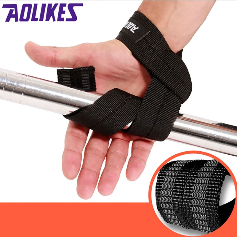 1 par de levantamento de peso mão cinto de pulso proteção corpo edifício aperto cinta cinta cinta cinta ginásio correias levantamento de peso handwrap
