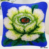 white flower cross stitch pillowplacemats do it yourself method of needlework kit latch hook rug kit embroidered carpet