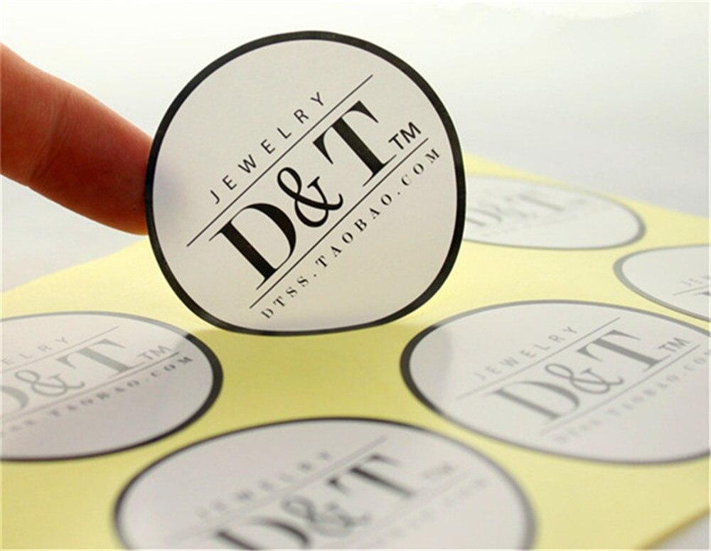 Etiquetas de pegatina adhesivas de PVC para boda con logotipo de marca personalizada, papel de vinilo transparente, adhesivos troquelados transparentes