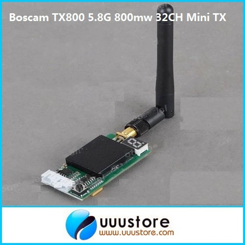 Boscam tx800 5.8g 5.8ghz 800mw 32 canal av sinal sem fio mini módulo transmissor