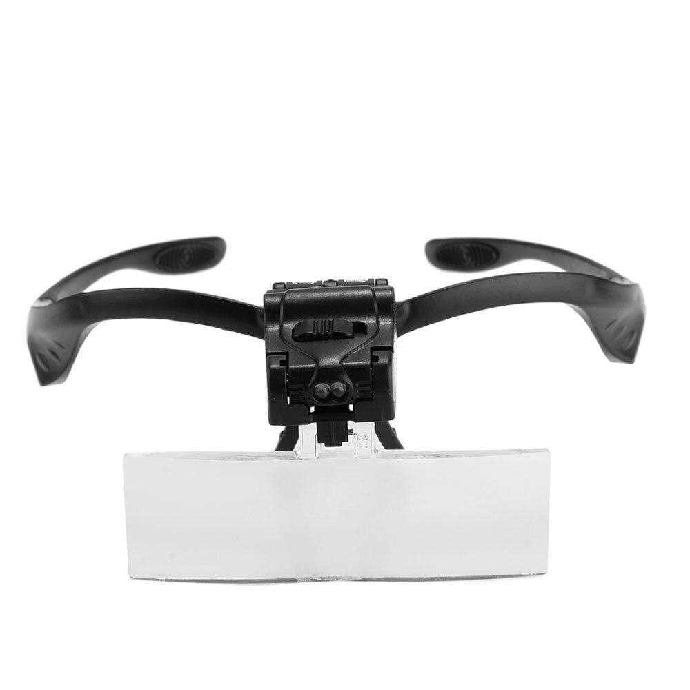 MYLB-Lupen Brille Lupe mit 2 LEDs 5 Objektiv Vergrößerung Reparatur