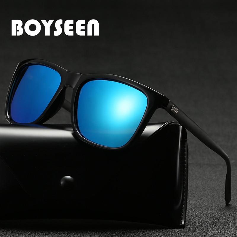 Gafas de sol polarizadas para hombre y mujer a la moda, gafas cuadradas de conducción antiuv, gafas de sol de viaje, 6387