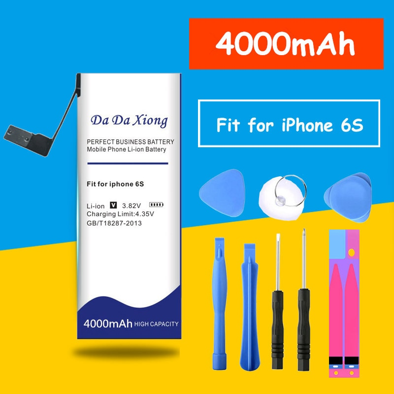 Batería Original Da Xiong de 4000mAh para iPhone 6S 6GS 6s, batería rebatible de teléfono con herramientas gratuitas