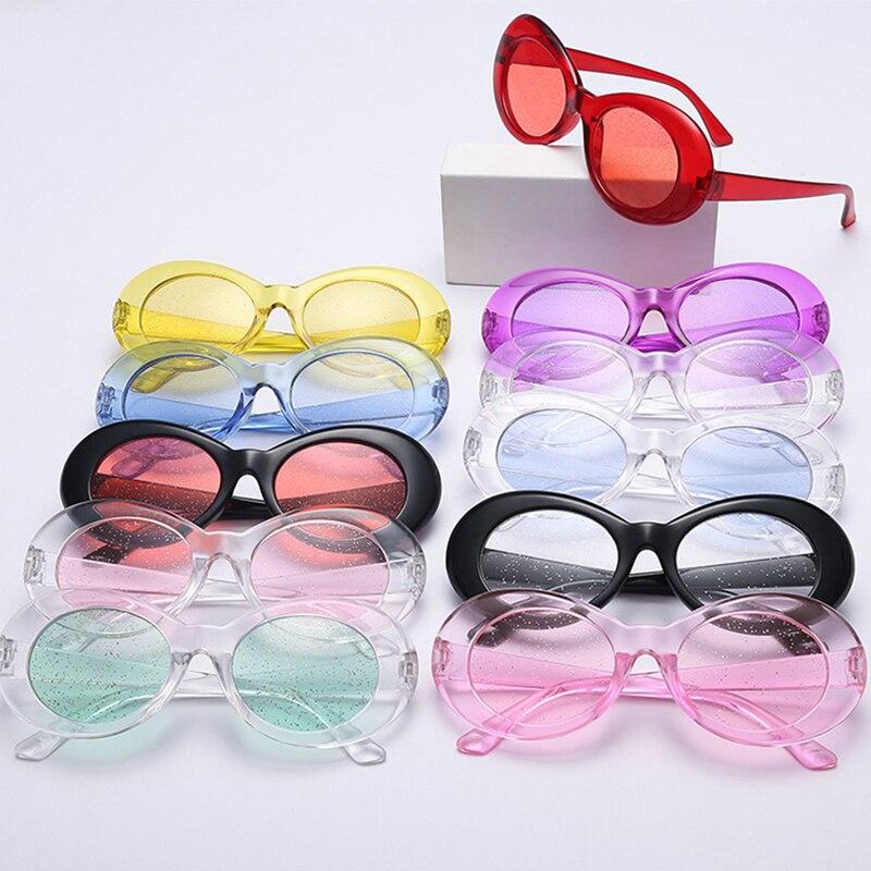 Солнцезащитные очки для женщин и мужчин, модные, крутые, уникальные, ослепляющие, с овальным стеклом