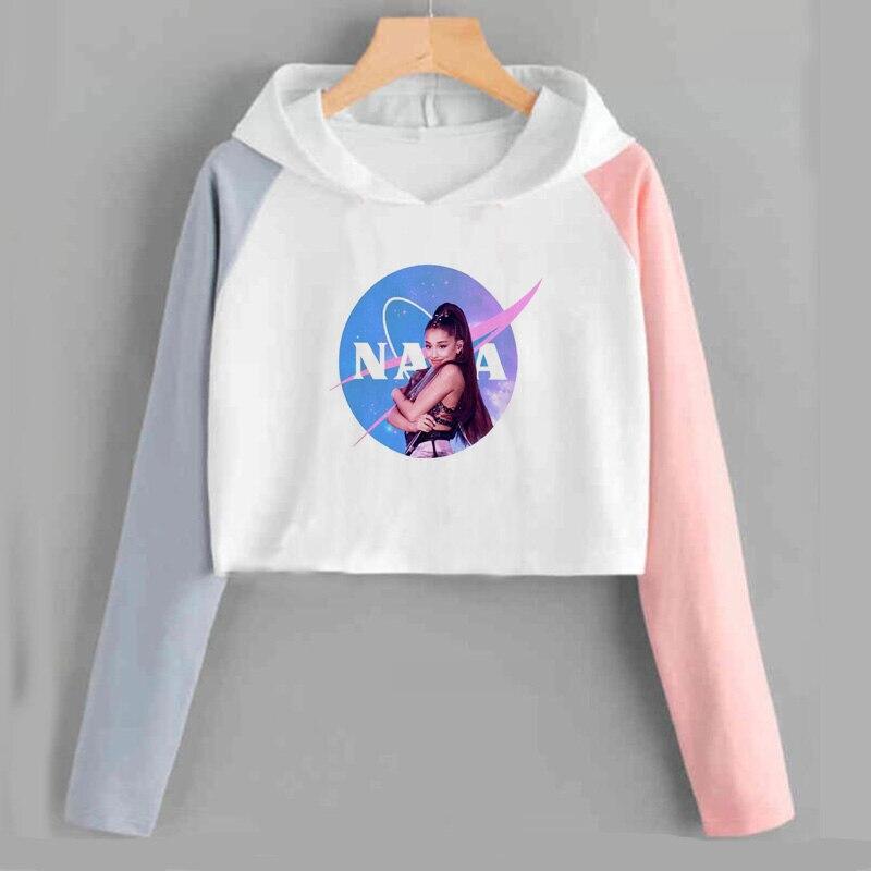 IMMA necesita espacio cultivo Top sudadera Ariana Grande gracias la próxima edulcorante imaginar pantalones con capucha de manga larga mujeres ropa Casual