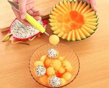 1 PZ Creativo Gelato Baller Intaglio di Frutta Anguria Coltello Scavare palla Baller Scoop Cucchiaio Fai Da Te Assortiti Piatti Freddi Strumento LF 104