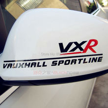 2 x estilo clásico vinilo coche VXR trasero decorativo pegatinas reflectantes para coche accesorios para Vauxhall Sportline
