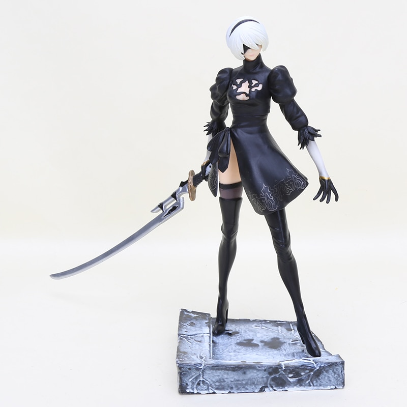 25cm Game Action Figure 2B Nier Automata Figure PVC YoRHa No. 2 Type B Mechanical Life  Collectible Model Toy gift
