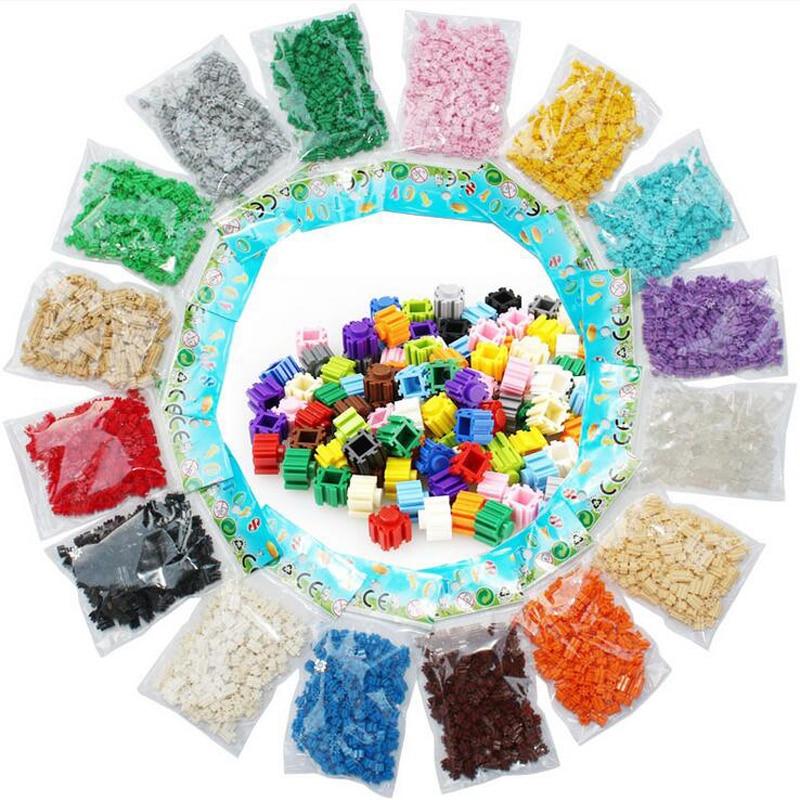 DOLLRYGA diamond micro blocks cartoon 6mm*6mm block plastic cube building blocks bricks educational toy game single color 200pcs