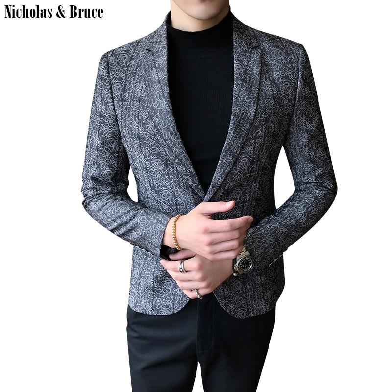 Chaqueta de traje N & B 2019 para hombre, chaqueta Formal negra, Chaqueta de vestir para hombre, chaqueta ajustada para hombre, traje de negocios, chaqueta, Blazer SR25